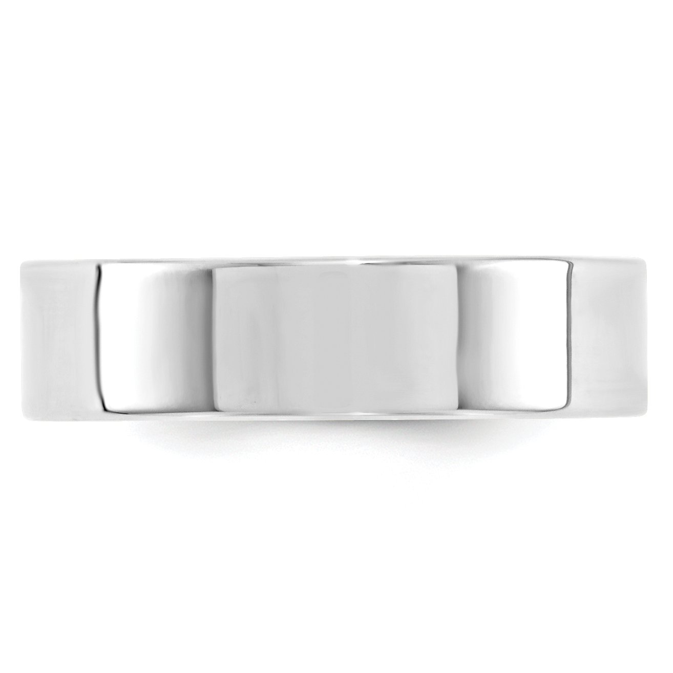 10k White Gold 6mm Standard Flat Comfort Fit Band Size 10 by Saris and Things (Image #2)
