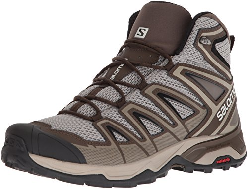 Salomon Men's X Ultra Mid 3 Aero Trail Running Shoe, Vintage Kaki, 10.5 M US Aero Hiking Shoes
