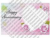 1/2 Sheet - Anniversary Heart - Cake Photo Frame - Edible Cake/Cupcake Topper!!!