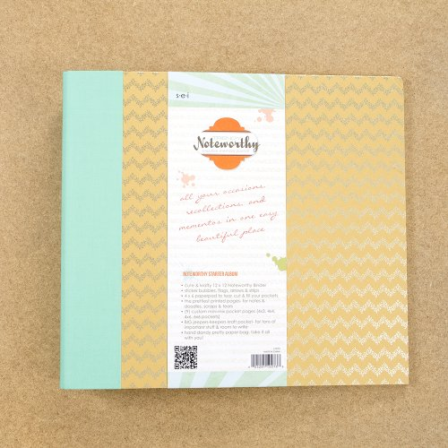 Sew Easy Industries 1-0273 3-Ring Noteworthy Creative Memory Journal, 12 by 12-Inch, Trendy by Sew Easy Industries