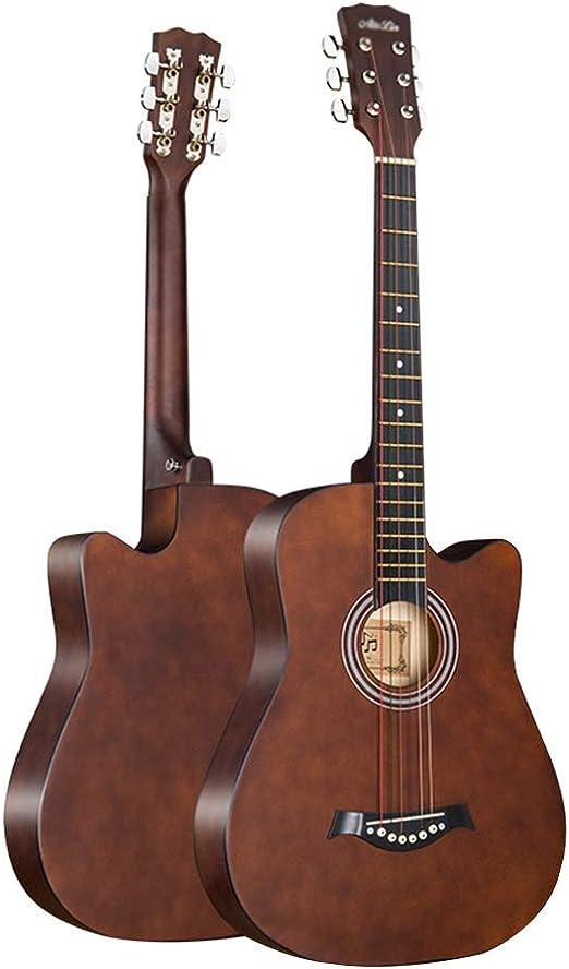 BAIYING-Guitarra Acústica 38 Pulgadas Principiante Guitarra ...