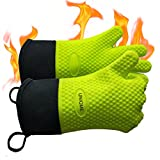 Best Grilling Gloves For Cooking - UNIQME Grilling Gloves Silicone Oven Mitts For Men Review