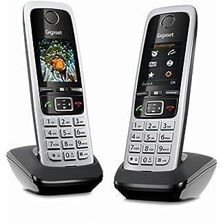 Gigaset C430HX Duo – 2 schnurlose IP-Telefone (zum Anschluss an Router oder Basisstationen - klassische Mobilteile mit Farbdisplay und HD-Voice) schwarz-silber 12