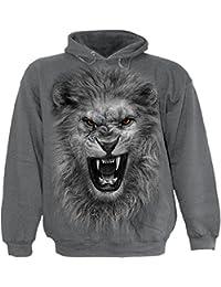 Spiral - TRIBAL LION - Kids Hoody Charcoal