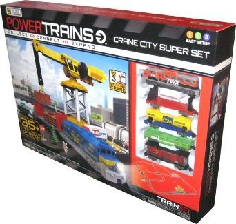 Power Trains Crane City Super Set - 35+ Feet Of Track, used for sale  Delivered anywhere in USA