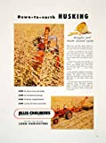 1953 Ad Allis-Chalmers Corn Harvester Farm Machinery Implement Equipment Golden - Original Print Ad