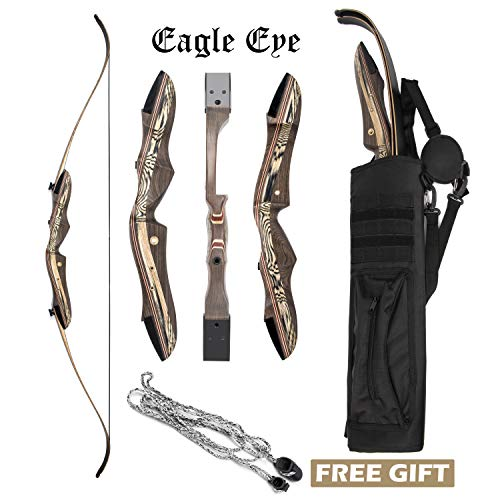 JEKOSEN 2019 Eagle Eye Wooden Takedown Archery Recurve Bow 62