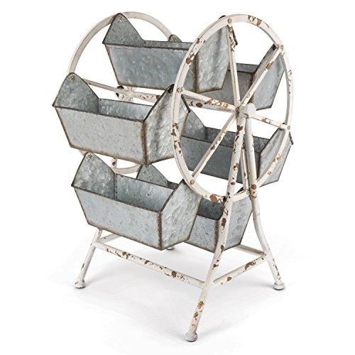 Lone Elm Metal Ferris Wheel Organizer, 16Inl x 13Inw x 21.65Inh, 2 ()