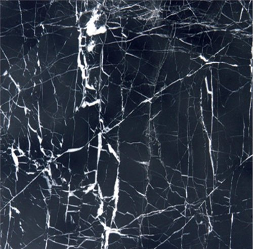 "CHINA BLACK MARBLE 12x12"" POLISHED (WITH WHITE VEIN)"