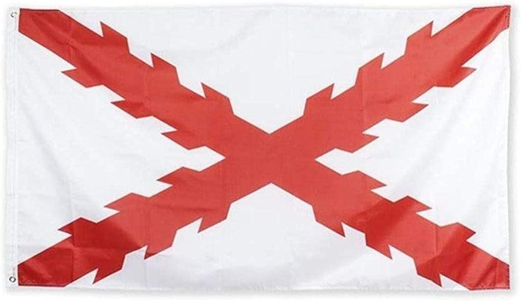 Estirpe Imperial Bandera Cruz de Borgoña 150x90cm: Amazon.es: Ropa y accesorios