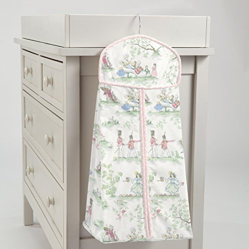 Carousel Designs Pink Over The Moon Toile Diaper ()
