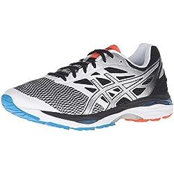 ASICS Men's Gel-Cumulus 18 Running Shoe, White/Silver/Black, 10 2E US