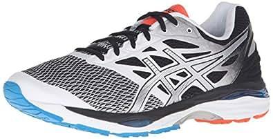 ASICS Men's Gel-Cumulus 18 Running Shoe, White/Silver/Black, 6.5