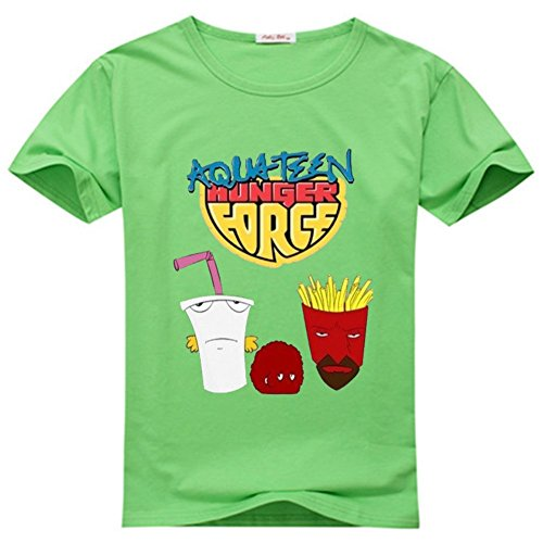 Yangshan Lin Mens Funny Aqua Teen Hunger Force Forever Green T-shirts Size - Green Forever T-shirt