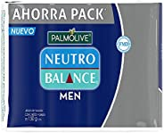 Palmolive Palmolive Neutro Balance Jabón en Barra para Hombre, 150 Gramos, Pack de 4, color, 4 count, pack of