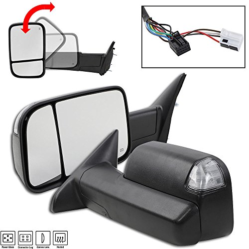 (Roadstar for 2009-2012 Ram 1500 2500 3500 Power Heated Signal Towing Side Mirrors Pair)