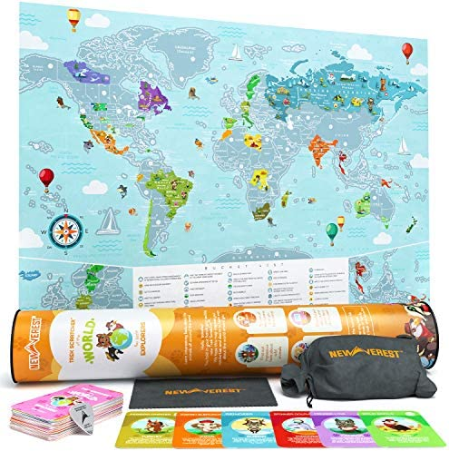 Newverest Scratch Off Map World product image