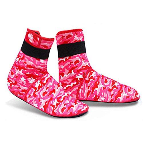 Summer Exercice Pour Yoga Aqua Camo Kids Mens Swim Unisexe Skitch 6 Shoes Rouge Water Outdoor Surf Plage Chaussettes Womens RqBxnEw6z