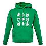 Lucha Masks - Unisex Hoodie / Hooded Top - Kelly Green - Medium