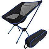 ONEPACK Portable Lightweight Folding Hiking Picnic Camping Chair Beach Seat for Barbecue Touring Fishing Travelling Backpacking Outdoor with Carry Bag