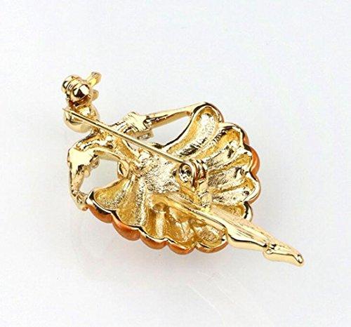 Dansant Fille Boucle écharpe colorée perle broche chemise broche corsage et épingle pour les femmes hommes