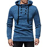 Clearance Sale! 2018 Wintialy Mens Long Sleeve Autumn and Winter Button Cap Casual Suits Sweatshirt Blouse Top