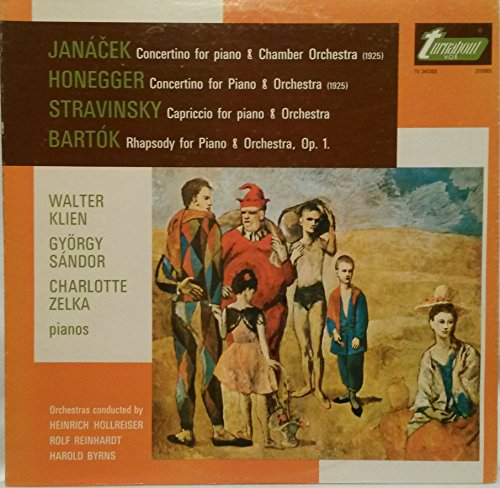 JANACEK: CONCERTINO FOR PF. & CHAMBER ORCH~HONEGGER: CONCERTINO FOR PF. & ORCH.~STRAVINSKY: CAPRICCIO FOR PF. & ORCH.~BARTOK: RHAPSODY FOR PF. & ORCH., Op. 1|TURNABOUT TV 34130S - 62.5