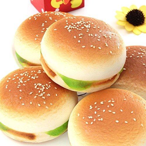 [9.5CM Jumbo Hamburger Kawaii Ham Squishy Bread Keychain Bag Phone Charm Strap] (Hamburger Halloween Costume Baby)