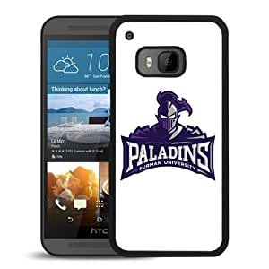 NCAA Furman Paladins 04 Black Hard Shell Phone Case For HTC ONE M9