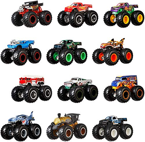 Hot Wheels Monster Trucks 1:64 Scale Die-Cast Ultimate Chaos 12 Pack Toy Vehicles for Kids Ages 3 Years and Older