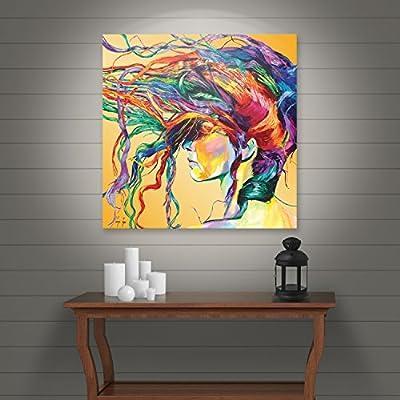 Art Wall Lynn-001-14x14-w Linzi Lynn 'Windswept' Gallery-Wrapped Canvas Artwork