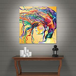 Art Wall Lynn-001-36x36-w Linzi Lynn 'Windswept' Gallery-Wrapped Canvas Artwork, 36 by 36-Inch