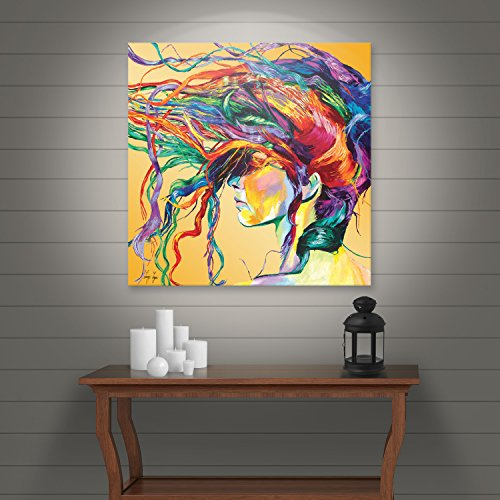 Art Wall Lynn 001 36x36 W Linzi Lynn U0027Windsweptu0027 Gallery Wrapped Canvas  Artwork, 36 By 36 Inch