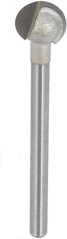 sourcing map 3mm Schaft Dmr 4mm Radius Hartmetallspitze Doppelfl/öte Kugelkopffr/äser