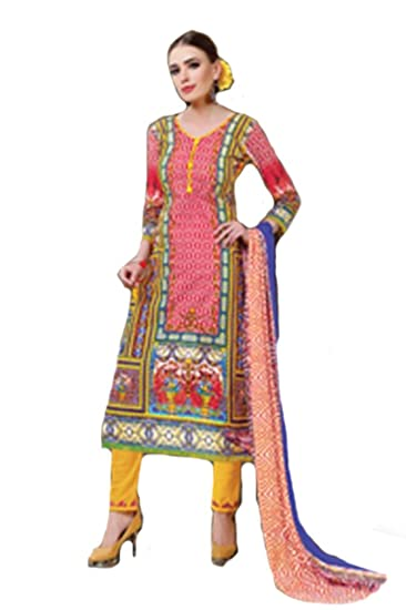 da30dfd4d5 Shree Ganesh Retail Women's Cotton Unstitched Printed Churidar Salwar Suit  Dress Material (Multicolour, Free Size): Amazon.in: Clothing & Accessories