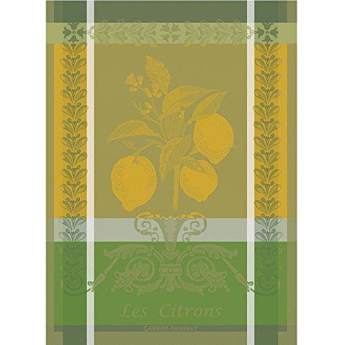 Garnier Thiebaut Towel - Garnier Thiebaut 100% two-ply twisted cotton Citron Kitchen Towel, 22 by 30-Inch, Zeste, Made in France