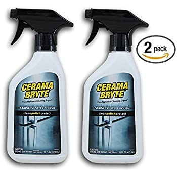 Amazon Com 2 Pack Cerama Bryte Stainless Steel Cleaning
