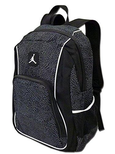 - Nike Jordan Jumpman23 Backpack (One Size Fits All, Black/White)
