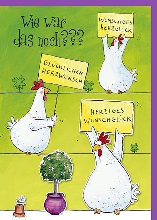 Lustige Maxi A11 Glückwunschkarte Hühner: Amazon.de: Bürobedarf ...