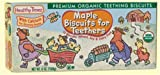 Maple Biscuits for Teethers 0 Food (12 Boxes of 6oz) by Healthy Times