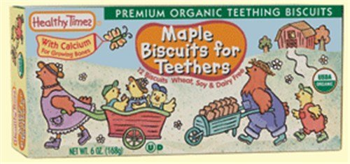 Maple Biscuits for Teethers 0 Food (12 Boxes of 6oz) by Healthy Times by Healthy Times