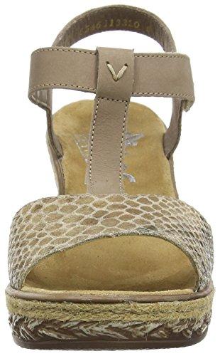Rieker 69469-90 - Sandalias de cuña para mujer Gris (Taupe)