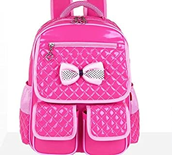 Chenfui - Bolsas de princesa de piel sintética, mochilas de lazo, ligeras, impermeables, para niñas pequeñas (rosas): Amazon.es: Hogar