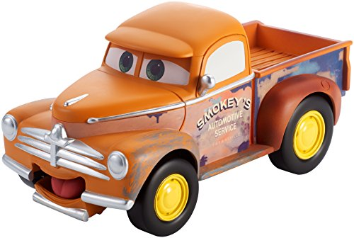 Disney Pixar Cars 3 Funny Talkers Smokey Vehicle, 1:55 Scale