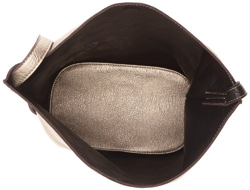 Paquetage Ray - Bolso de hombro mujer Plata - Argent (Armure/noir)