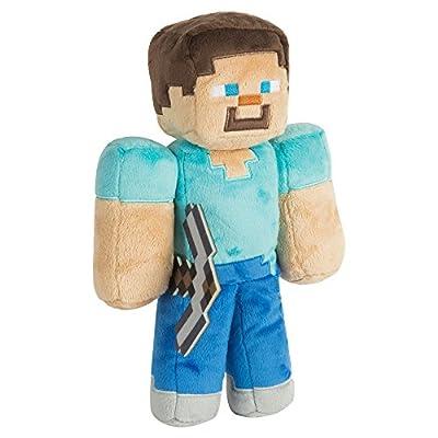 "JINX Minecraft Steve Plush Stuffed Toy (Multi-Color, 12"" Tall)"