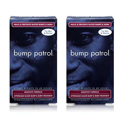 Bump Patrol Sensitive Strength Aftershave Formula - Gentle After Shave Solution Eliminates Razor Bumps and Ingrown Hairs - 2 Ounces 2 Pack