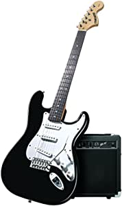 Fender Starcaster Strat Pack Electric Guitar with Amp and Accessories (Black) (OLD MODEL)