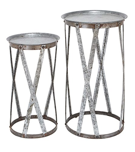 Benzara Conventional Decor Metal Pedestal, Set of 2 Review
