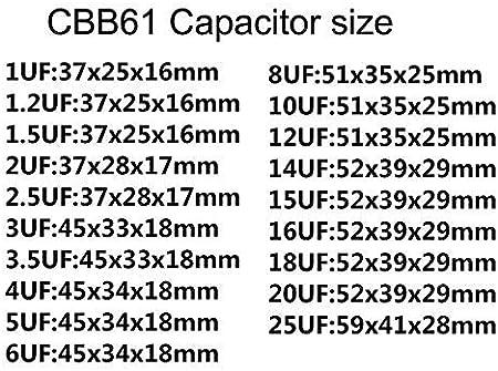 DBParts New for Ceiling Fan Capacitor CBB61 4.5uF+6uF+8uF 250V//250V//250V 5 Wire